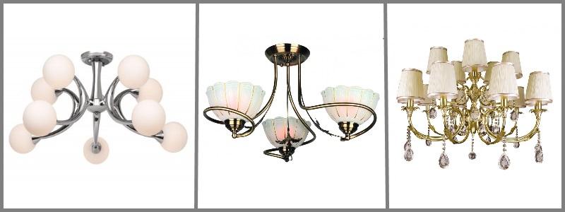 Подключение люстр и светильников